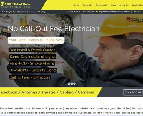 electrical wordpress theme