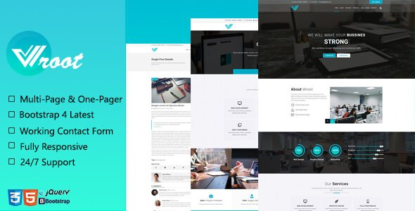 Wroot - Multipurpose Creative Website Template